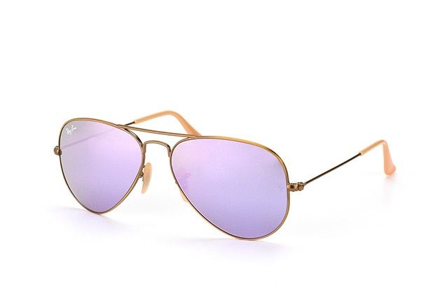 ray ban aviator small braun