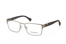 Emporio Armani EA 1027 3003, Square Brillen, Silber auf Rechnung bestellen
