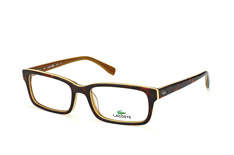 Lacoste L 2725 214, Rectangle Brillen, Braun
