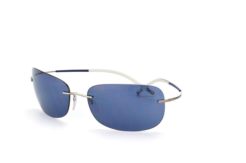8130 60-6224, Rectangle Sonnenbrillen, Silber