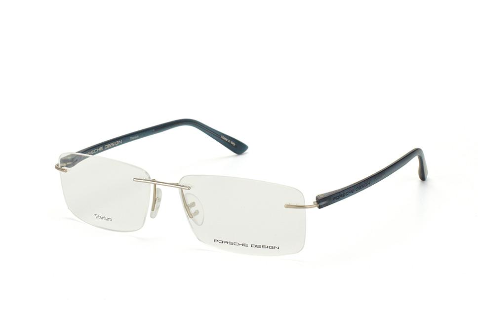P 8205 G, Rectangle Brillen, Silber