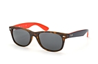 Ray-Ban Wayfarer RB 2132 6181/85 large Havana / Dark blue / Grey perspective view thumbnail