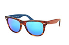 Ray-Ban Wayfarer RB 2140 1174/4T large Marrón / Azul perspective view thumbnail