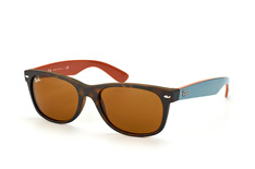 Ray-Ban New Wayfarer RB 2132 6179large, Square Sonnenbrillen, Braun