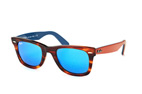 Ray-Ban Wayfarer RB 2140 1177/2K Brown / Blue perspective view thumbnail