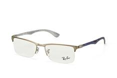 Ray-Ban RX 8413 2851, Rectangle Brillen, Goldfarben