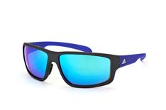 Adidas Kumacross A 424 6055, Sporty Sonnenbrillen, Schwarz