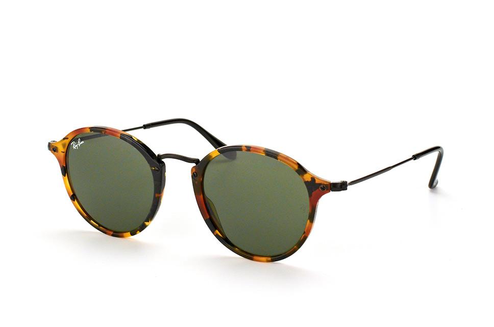 Ray-Ban RB2447 1157 - zonnebril - Round Fleck - Tortoise/Zwart - Groen Klassiek G-15 - 49mm