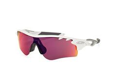 Oakley Radarlock OO 9181 40 Prizm, Singlelens Sonnenbrillen, Weiss