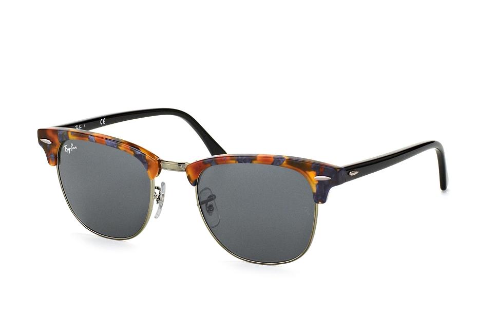 Ray-Ban RB3016 1158R5 - zonnebril - Clubmaster (Fleck) - Tortoise-Zwart / Blauw/Grijs Klassiek - 51mm