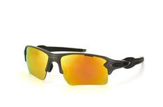 Oakley Flak OO 9188 10, Sporty Sonnenbrillen, Grau