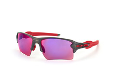 Oakley Flak OO 9188 04 Prizm™ Road, Sporty Sonnenbrillen, Grau