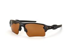 Oakley Flak OO 9188 07, Sporty Sonnenbrillen, Schwarz