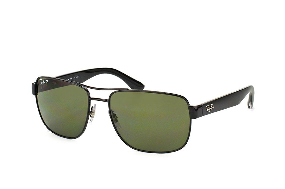 Ray-Ban RB3530 002/9A - zonnebril - Zwart / Groen Klassiek G-15 - Gepolariseerd - 58mm
