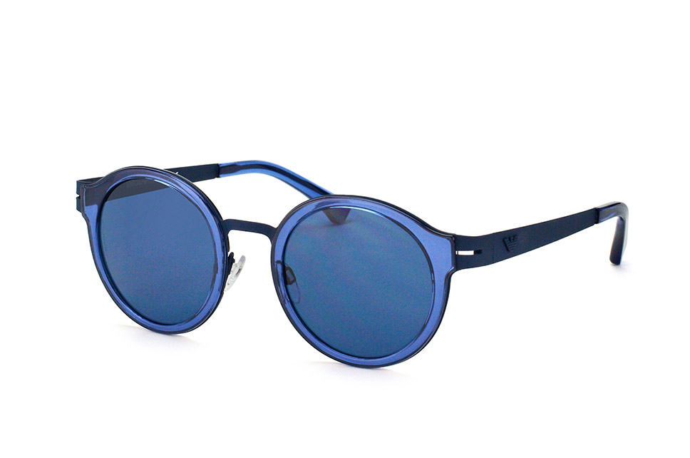 EA 2029 3100/80, Round Sonnenbrillen, Blau