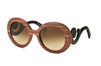 Prada PR 27RS UBT-4O2 Brown / Gradient brown perspective view thumbnail