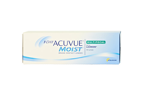 Acuvue 1-Day Acuvue Moist Multifocal framifrån