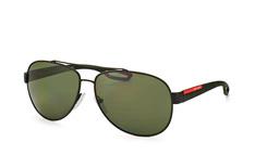 Prada Linea Rossa PS 55Qs Dg0-5X1, Aviator Sonnenbrillen, Schwarz