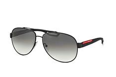 Prada Linea Rossa PS 55Qs Dg0-0A7, Aviator Sonnenbrillen, Schwarz