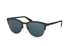 Calvin Klein CK 2140S 001, Browline Sonnenbrillen, Schwarz
