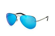 ray-ban-rb-3449-004-55-aviator-sonnenbrillen-silber