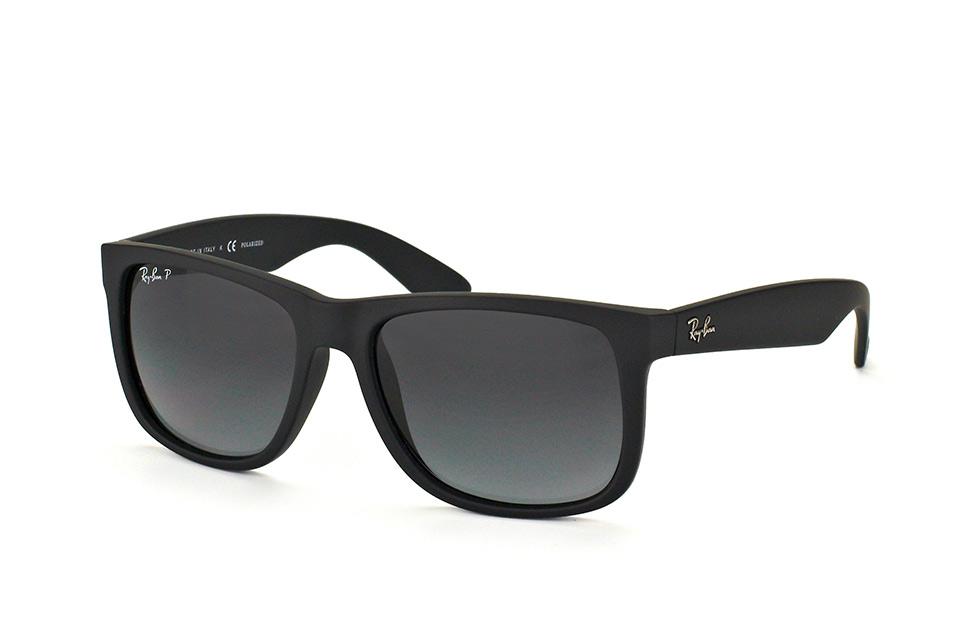 Ray-Ban RB4165 622/T3 - Justin (Classic) - zonnebril - Zwart/Grijs gradint - Polarized - 54mm