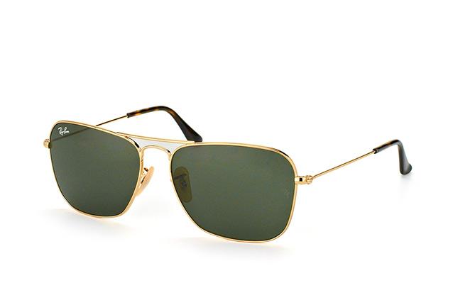 RAY BAN RAY-BAN Herren Sonnenbrille »CARAVAN RB3136«, goldfarben, 181 - gold/grün