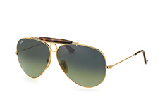 Ray-Ban Shooter RB 3138 181/71, Aviator Sonnenbrillen, Goldfarben