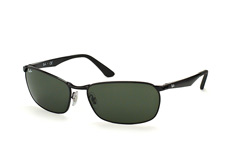 Ray-Ban RB 3534 002, Rectangle Sonnenbrillen, Schwarz