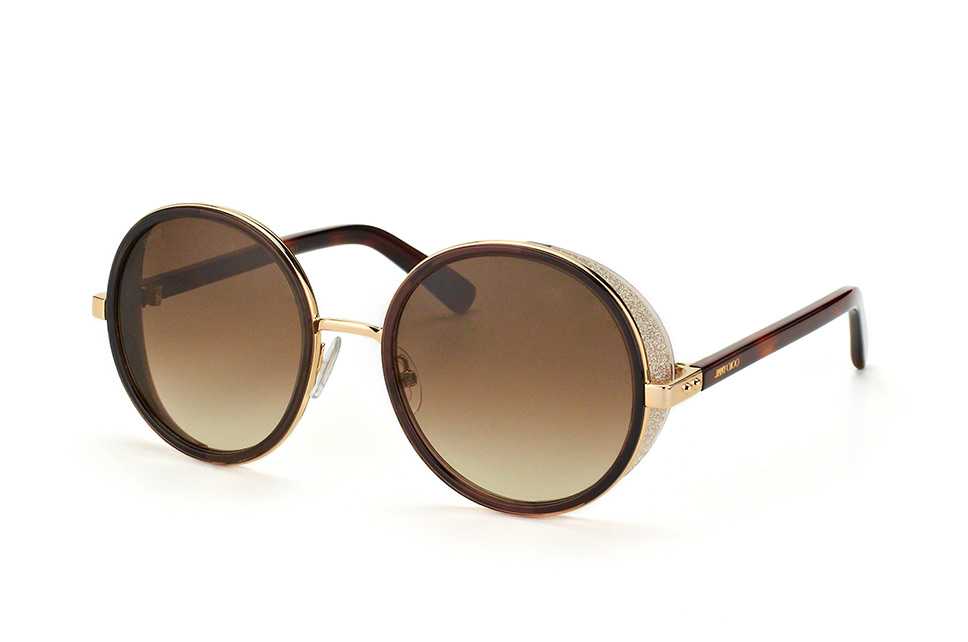 JIMMY CHOO Jimmy Choo Damen Sonnenbrille » LORY/S«, goldfarben, 3YG/IC - gold/ silber