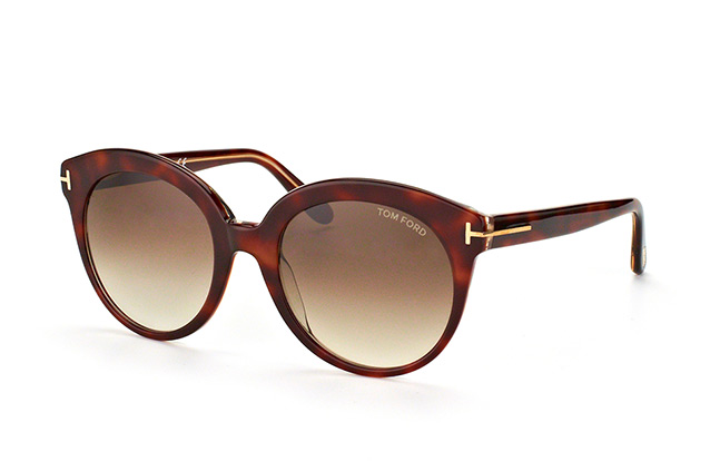 Tom Ford Damen Sonnenbrille »Monica FT0429«, braun, 56F - havana/braun