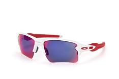 Oakley Flak OO 9188 21, Sporty Sonnenbrillen, Weiss