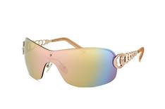 Guess GU 6509 28C, Singlelens Sonnenbrillen, Goldfarben
