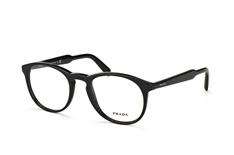 prada pr 19sv 1ab-1o1, including lenses, round glasses, unisex
