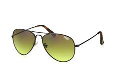 Superdry Huntsman 004, Aviator Sonnenbrillen, Schwarz