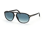 Tom Ford Jacob FT 0447/S 01P Zwart / Grijs gradiënt perspective view thumbnail
