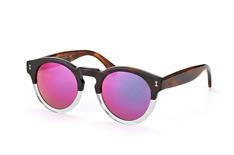 Illesteva Leonard 53-Pink, Round Sonnenbrillen, Havana