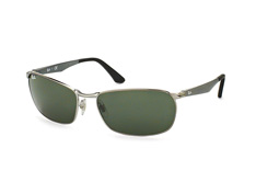 Ray-Ban RB 3534 004, Rectangle Sonnenbrillen, Silber