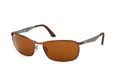 Ray-Ban RB 3534 012, Rectangle Sonnenbrillen, Braun