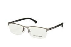 Emporio Armani EA 1041 3130, Rectangle Brillen, Silber auf Rechnung bestellen