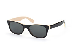 Mister Spex Collection Harrison 2014 010 small, Square Sonnenbrillen, Schwarz