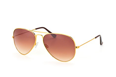Mister Spex Collection Tom 2004 010 large, Aviator Sonnenbrillen, Goldfarben