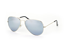 Mister Spex Collection Tom 2004 012 large, Aviator Sonnenbrillen, Silber