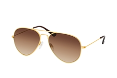 Mister Spex Collection Tom small 2004 003, Aviator Sonnenbrillen, Goldfarben