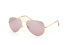 Mister Spex Collection Tom small 2004 002, Aviator Sonnenbrillen, Goldfarben