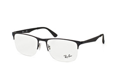 Ray-Ban RX 6362 2509, Square Brillen, Schwarz