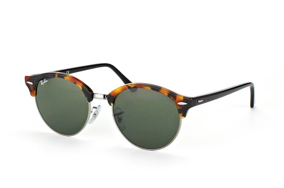 Ray-Ban RB4246 1157 - Clubround (Classic) - zonnebril - Tortoise-Zwart / Groen Klassiek G-15 - 51mm