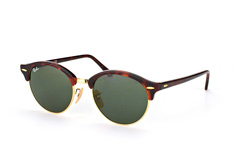 Ray-Ban Clubround RB 4246 990, Browline Sonnenbrillen, Havana