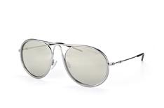 Emporio Armani EA 2034 3010/6G, Aviator Sonnenbrillen, Silber