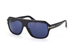 Tom Ford Omar FT 0465/s 01V, Aviator Sonnenbrillen, Schwarz